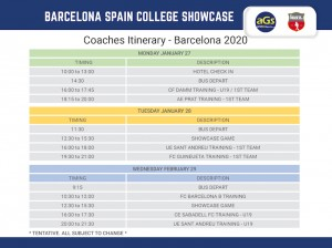 2020 AGS Barcelona Schedule 700
