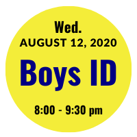 Boys AGS College ID Session Icon August 12, 2020 8 pm