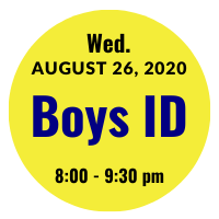 Boys AGS College ID Session Icon August 26, 2020 8 pm