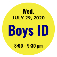 Boys AGS College ID Session Icon July 29, 2020 8 pm